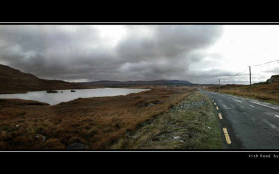 ирландский, дорога, фон