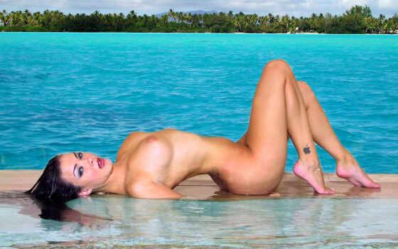 голая девушка на берегу Фон № 65937 разрешение 1920x1200