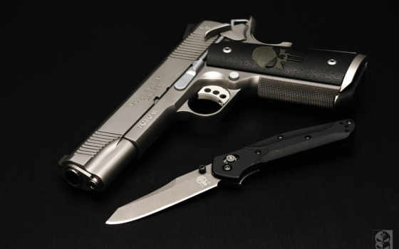 colt 1911, нож, охотничий нож