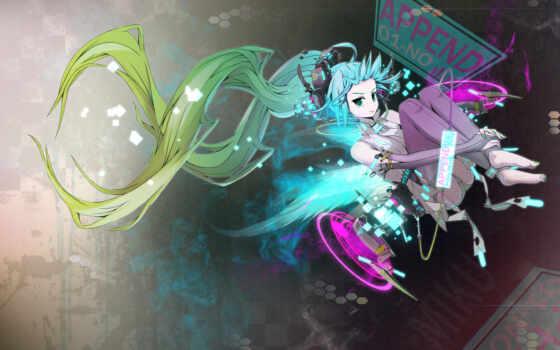 anime, miku, вокалоид Фон № 91247 разрешение 1920x1200