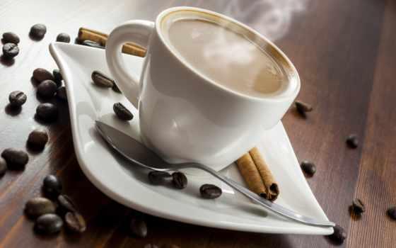 coffee, cup, молоком, beans, зерна, вред, только, использование,