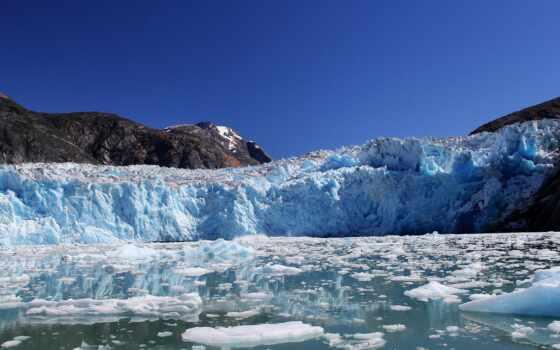 glacier, winter, природа, снег, лед, time, аляска, дневной