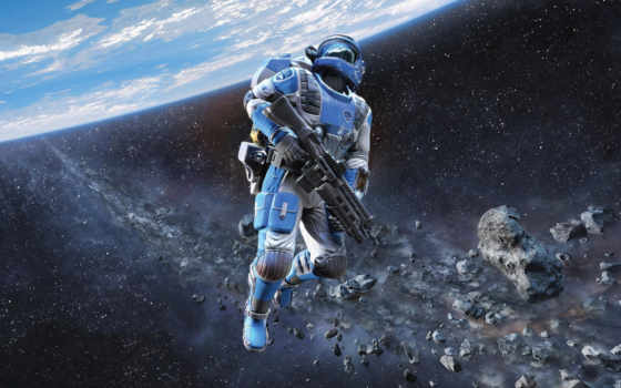 halo, space