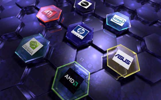 amd, asus, логотипы
