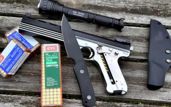 военный, нож, пистолет