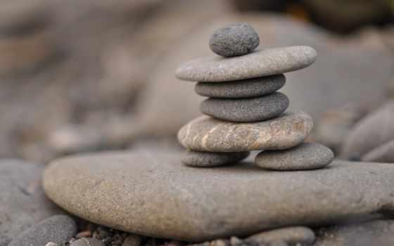 камни, камушки, пирамида, макро, плоские, бутон,