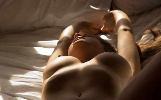 devushka, devushki, лежит, постель, еротика, обнаженная,