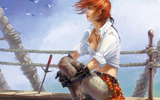 пиратский, art, sexy, цена, женщина, guns,