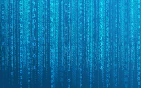 цифры, матрицы, blue