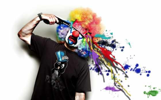 креатив, клоун, хакинг, everything, юмор, разрушает, конспирология, хак, мозги, пистолет,