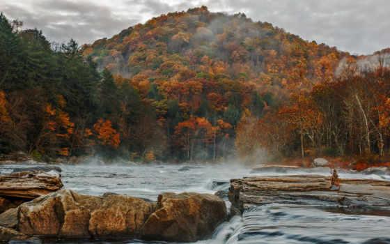 осень, дневник, небо, пасмурное, осінь, река, дощ, темы, virtual, гора, записи,