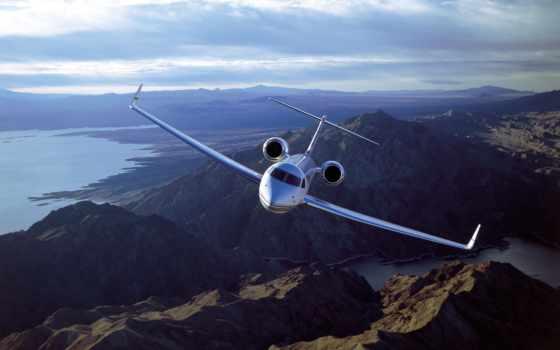 самолеты, самолёт, небе