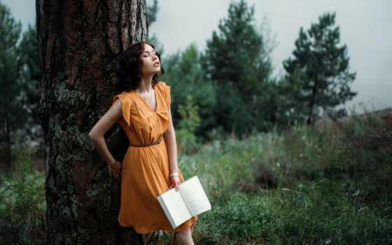 women, libre, aire, fotografia, коллекция, outdoors, аль, книга, closed, eyes