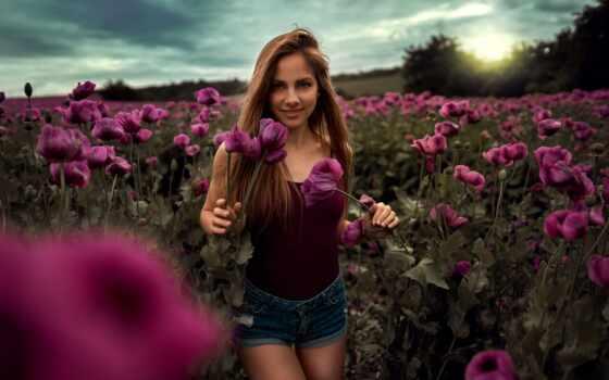 женщина, фото, цветы, outdoors, волосы, хороший, narrow, природа, диско, favorite