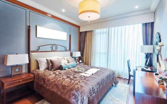 интерьер, дизайн, спальня