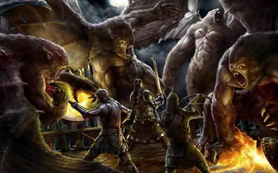 fantasy, монстры, взгляд