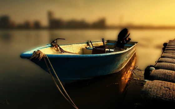 лодка, телефон, картинку