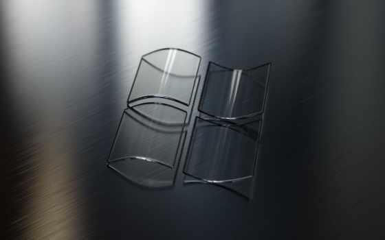 windows лого из стекла