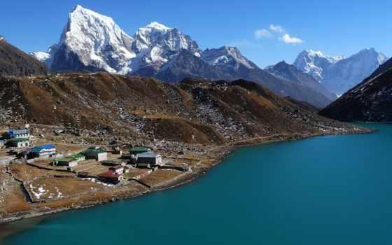 everest, gokyo, красивые, горы, побережье, nepal, oblaka, js, прованс, фото,