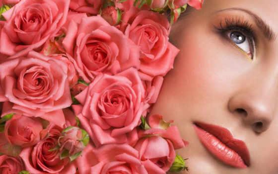 лепестки, роз, розы, букет, цветов, лица, маски, лепестков,