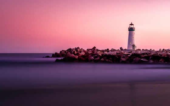 lighthouse, закат, desktop, mobile, resolutions,