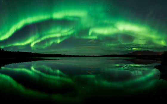 northern, огни, аляска, aurora, borealis, сияние, северное, озеро,