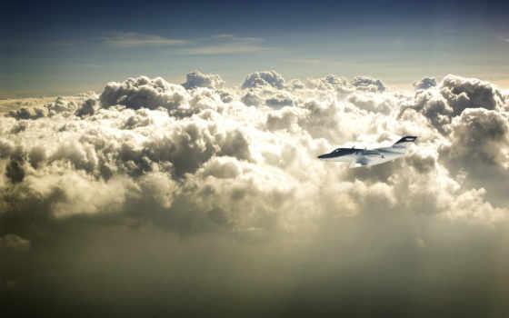 самолёт, облака
