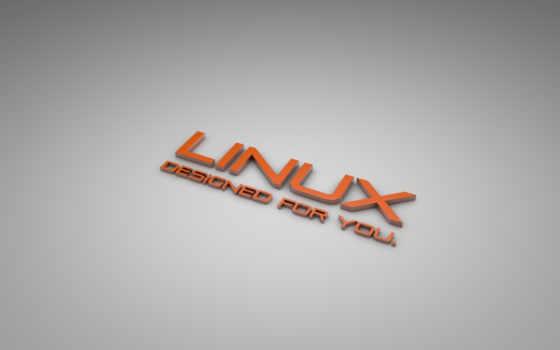 linux, серый, оранжевый