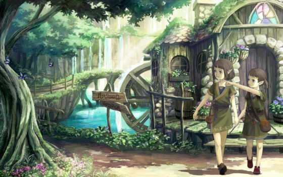 anime, elfy