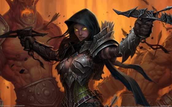 игры, diablo, fantasy, iii, hunter, самых, демонов, демон,