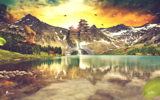 горы, water, landscape, гора, широкоформатные, everything, новинки, теме,