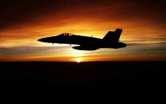 истребитель, закате, красивые, полет, закат, небо, sou, авиация, подборка, amazing,