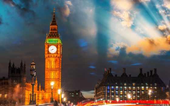 бен, биг, london, ночь, англия, мост, башня, photos,