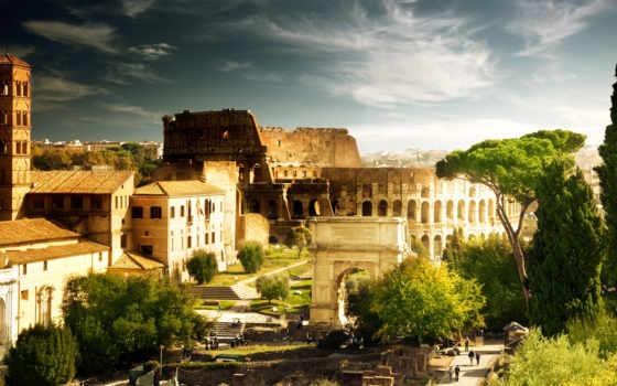 дома, rom, italian, forum, roman, фотообои, город, колизей, константина, architecture,