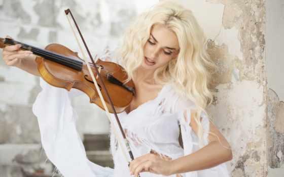 девушка, скрипка, cicco, ди, alessandro, осень, symphony, autumns, женщина, изображение,