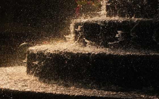дождь, strong, ступеньки, лестница, фотографий, water, душ, капли, drop, макро,