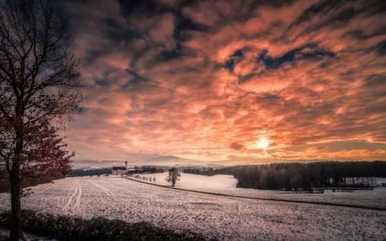 тихо, winter, фоны, мм, спокойствие, serenity, sun, закат, velfmari, небо,
