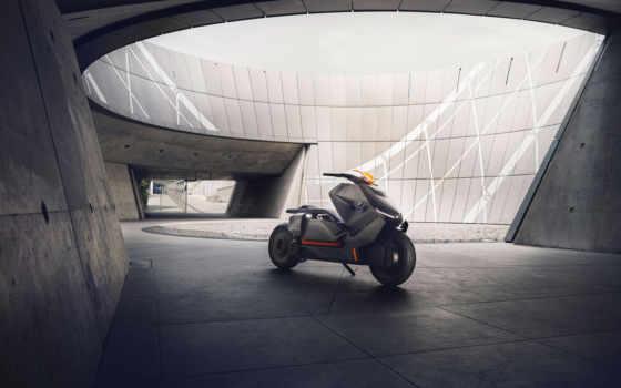 bmw, concept, мотороллер, motorrad, electric, new, будущее,