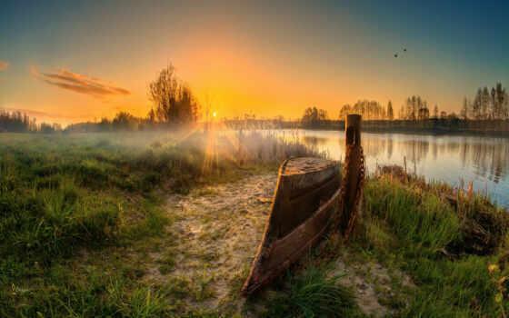 viking, корабль, alfreda, лодка, brest, площадь, природа