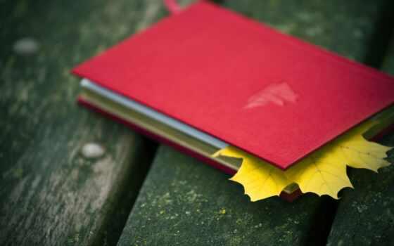 блокнот, лист, книга, previe, осень, klnyi, закладка, red, maple, настроение, трава