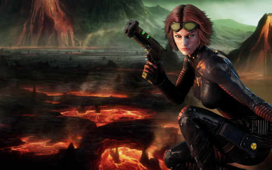 Tabula Rasa игра, девушка с пистолетом