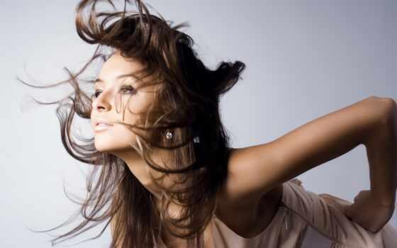 волосы, ветер, девушка, длинные, браун,