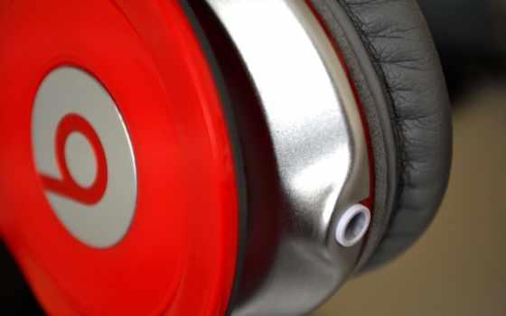 наушники, beats, красные наушники,