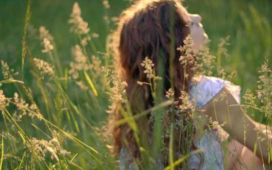 природа, девушка, трава Фон № 101645 разрешение 1680x1050