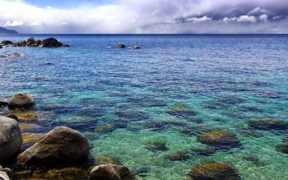камни, море, pin, небо, bottom, landscapes, pictures,