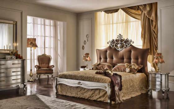 спальня, кровать
