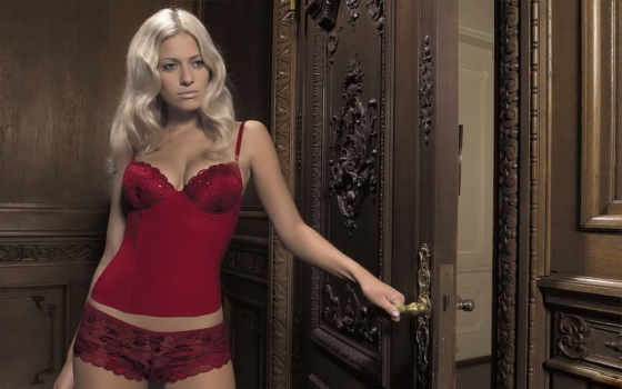 christa, rigozzi, девушки, girls, блондинка, sexy, bikini, красное белье,