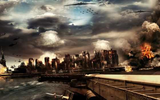 война, gorod, самолеты, город, небо,