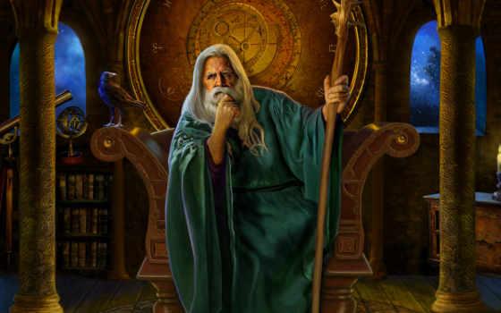 wizard, fantasy, посох, castle, маги, chris, швартовка, волшебники, трон,
