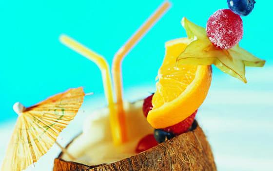 коктейль, напитки, еда, коктейли, tropical, фрукты,
